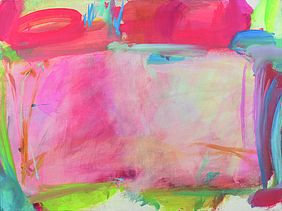 Maria Lassnig: Komposition in Rosa, 1960
